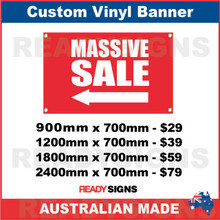 ( ARROW )  MASSIVE SALE - CUSTOM VINYL BANNER SIGN