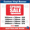 ( ARROW )  SPRING SALE - CUSTOM VINYL BANNER SIGN
