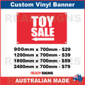 ( ARROW )  TOY SALE - CUSTOM VINYL BANNER SIGN