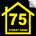 Bin Sticker Numbers (Set of 4) - Style1/Black-Yellow