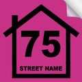 Bin Sticker Numbers (Set of 4) - Style1/Pink-Black