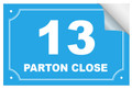 Bin Sticker Numbers (Set of 4) - Style 6/Blue-White