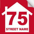 Bin Sticker Numbers (Set of 4) - Style 2/Red-White