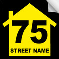 Bin Sticker Numbers (Set of 4) - Style 2/Black-Yellow