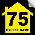 Bin Sticker Numbers (Set of 4) - Style 2/Black-Yellow