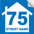 Bin Sticker Numbers (Set of 4) - Style 2/Blue-White