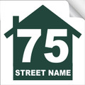 Bin Sticker Numbers (Set of 4) - Style 2/White-Green