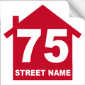 Bin Sticker Numbers (Set of 4) - Style 2/White-Red
