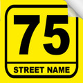 Bin Sticker Numbers (Set of 4) - Style 3/Yellow-Black