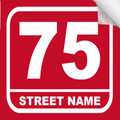 Bin Sticker Numbers (Set of 4) - Style 3/Red-White