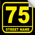 Bin Sticker Numbers (Set of 4) - Style 3/Black-Yellow