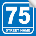 Bin Sticker Numbers (Set of 4) - Style 3/Blue-White