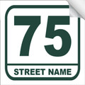 Bin Sticker Numbers (Set of 4) - Style 3/White-Green
