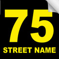 Bin Sticker Numbers (Set of 4) - Style 4/Black-Yellow