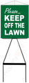 Triangle Lawn Sign PLEASE KEEP OFF THE LAWN