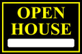 Open House Sign Classic Style- Blk/Ylw