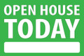 Open House Today - Green