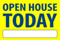 Open House Today - Yellow/Blue