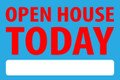 Open House Today - Electric Blue/Red