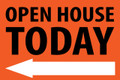 Open House Today - Left Arrow - Orange