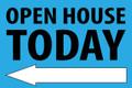 Open House Today - Left Arrow - Light Blue
