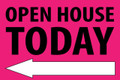 Open House Today - Left Arrow - Pink
