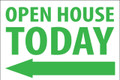 Open House Today - Left Arrow - White/Green