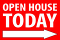 Open House Today -Right Arrow - Red