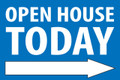 Open House Today -Right Arrow - Blue