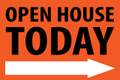 Open House Today -Right Arrow - Orange