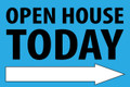 Open House Today -Right Arrow - Light Blue