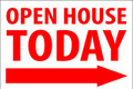 Open House Today -Right Arrow - White/Red