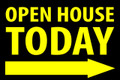 Open House Today -Right Arrow - Black/Yellow