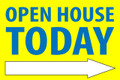 Open House Today -Right Arrow - Yellow/Blue