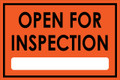 Open For Inspection  - Classic Style - Orange