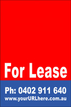 For Lease Sign No. 2 Customise your Ph & URL