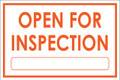 Open For Inspection  - Classic Style - White/Orange