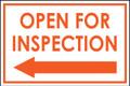 Open For Inspection  - Classic Left Arrow - White/Orange