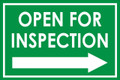 Open For Inspection  - Classic Right Arrow - Green