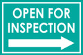 Open For Inspection  - Classic Right Arrow - Teal
