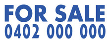 Blue For Sale Decal