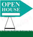 Open House RIGHT Arrow Sign - Teal