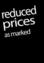 Reduced Prices as Marked Poster - Black