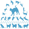 Jumping Cats Wall Decal