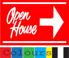Open House Sign Red (Right Pointing Arrow) Extra Colours Avilable