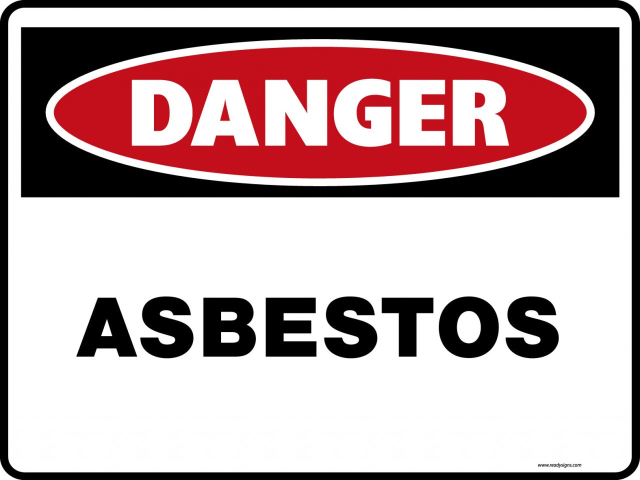 Danger Signs Asbestos Ready Signs