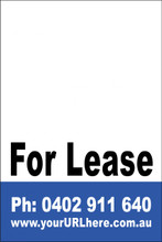 For Lease Sign No. 16 Customise your Ph & URL