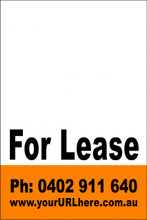 For Lease Sign No. 22 Customise your Ph & URL