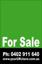 For Sale Sign No. 4 Customise your Ph & URL