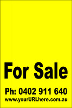 For Sale Sign No. 6 Customise your Ph & URL